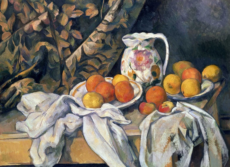 Paul Cézanne, Still Life with Drapery, circa 1899. State Hermitage Museum, St Petersburg Russia Bridgman Images