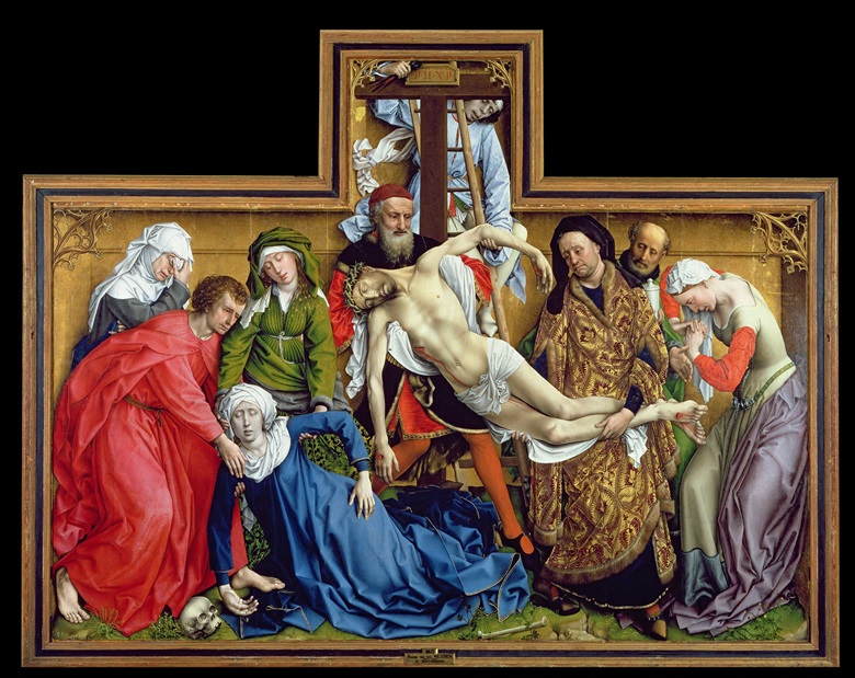 Rogier van der Weyden, Descent from the Cross, circa 1435. Prado, Madrid, Spain  Bridgeman Images