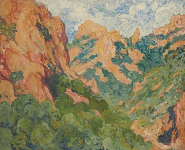 Louis Valtat (1869-1952), Les rochers rouges, circa 1904. Oil on canvas, 81 x 100 cm. Estimate €50,000-70,000. This work is offered in Art Impressionniste & Moderne on 31 March at Christie's in Paris