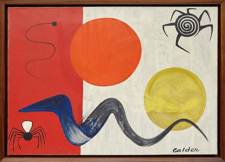 Alexander Calder, Spiders and Snakes, 1948. Oil on canvas, 64.8 x 92.1 cm  25 12 x 36 14 in Ó 2015 Calder Foundation, New York  DACs, London. Courtesy Calder Foundation, New York  Art Resource, New York and Hauser & Wirth