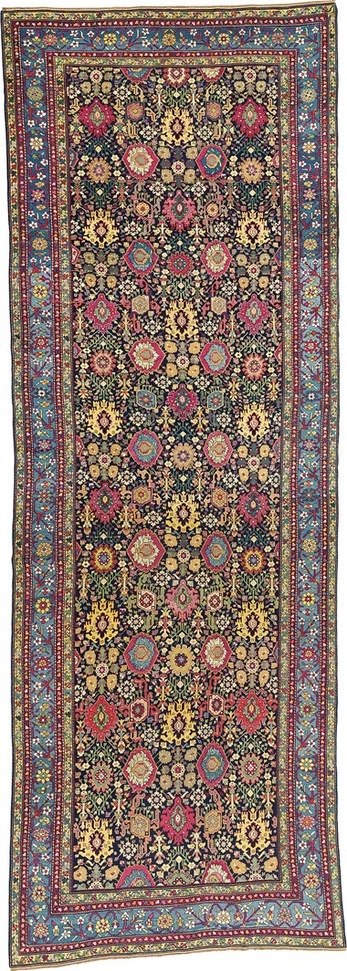 A large Northwest Persian Kelleh. Early 19th century. 21 ft x 7 ft 3 in (638 cm x 220 cm). This piece was offered in Oriental Rugs and Carpets on 19 April 2016 at Christie's in London and sold for £20,000
