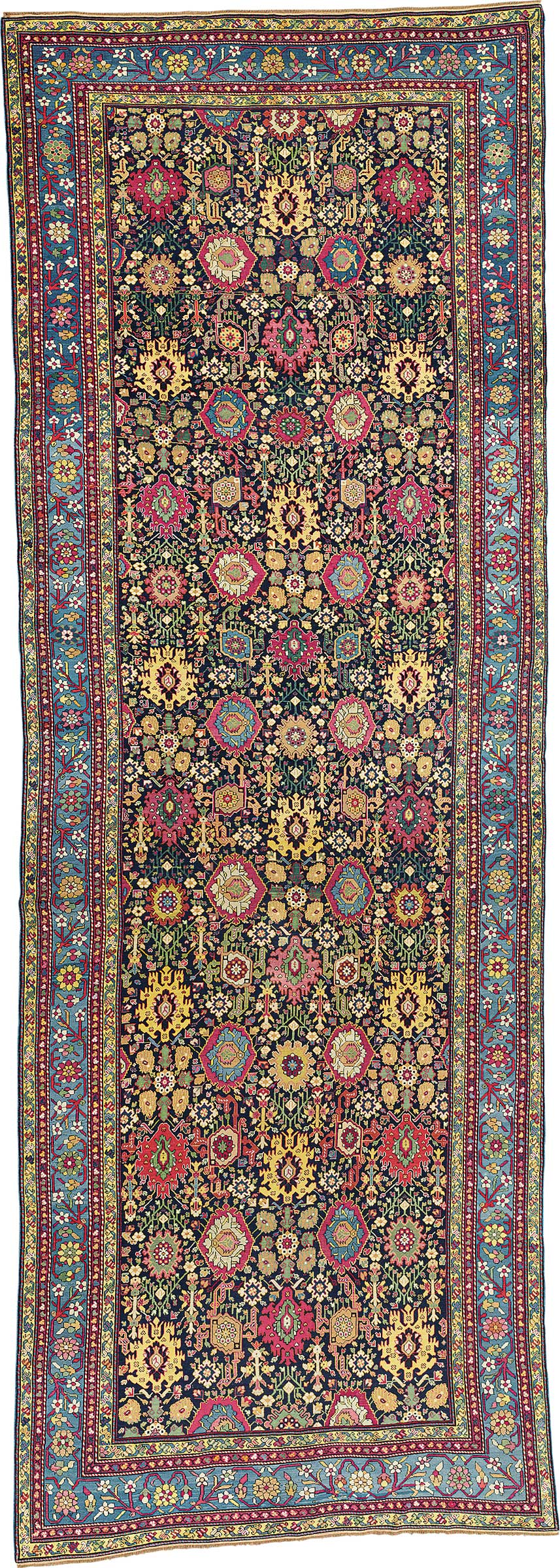 a large northwest persian kelleh early 19th century 21 ft x 7 ft 3 in 638 cm x 220 cm this piece was offered in oriental rugs and carpets on 19 april