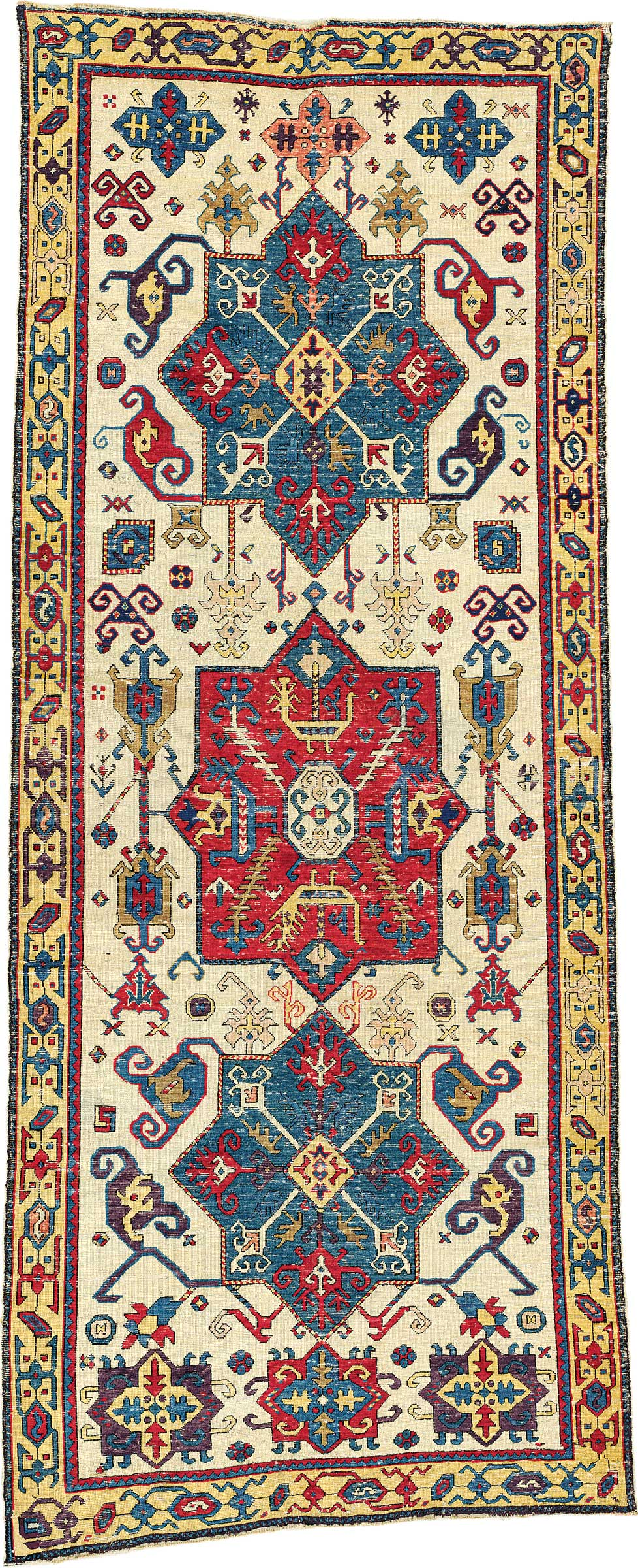 The Lehmann Bärenklau Kuba Medallion Carpet. East Caucasus, First Half 18th  Century. 9 Ft 9 In X 3 Ft 8 In (296 Cm X 112 Cm). This Piece Was Offered In  ...