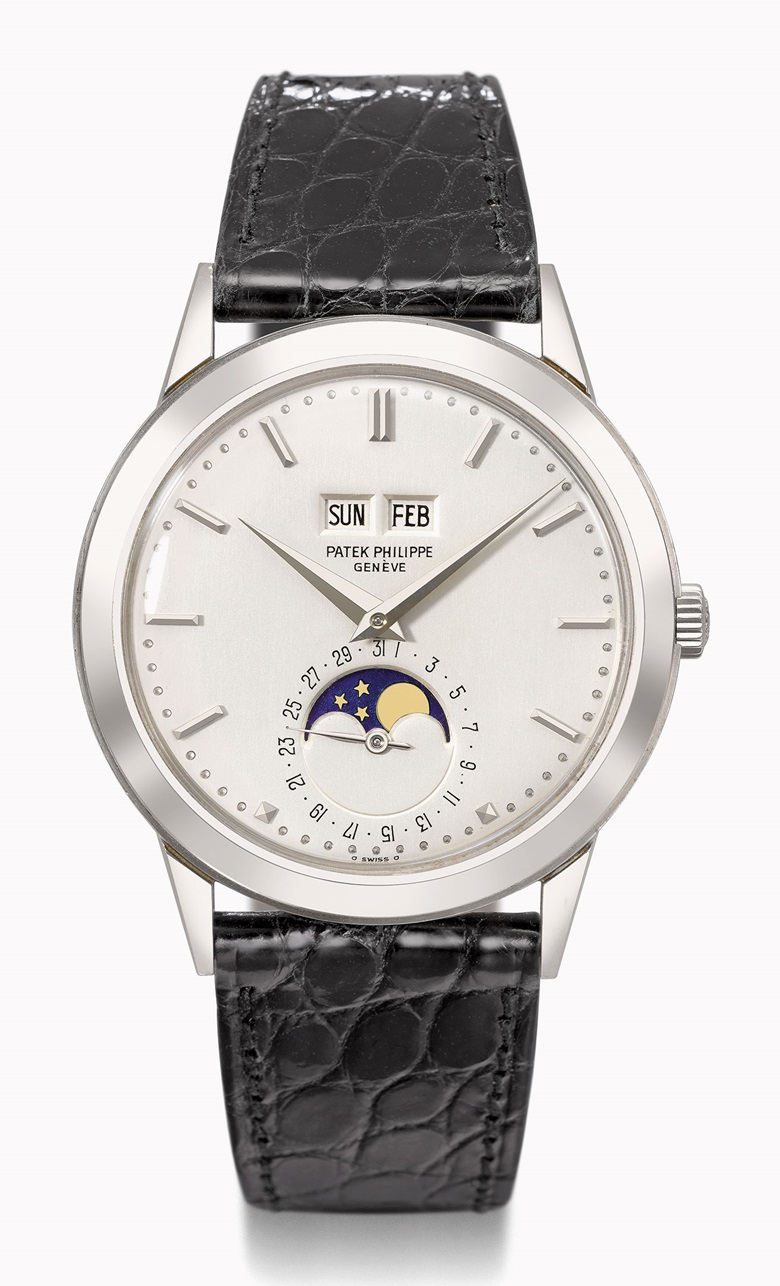 Patek Philippe Ref. 3448 perpetual calendar wristwatch in white gold. Estimate CHF300,000-500,000. This watch is offered in the Rare Watches auction on 16 May at Christie's Geneva