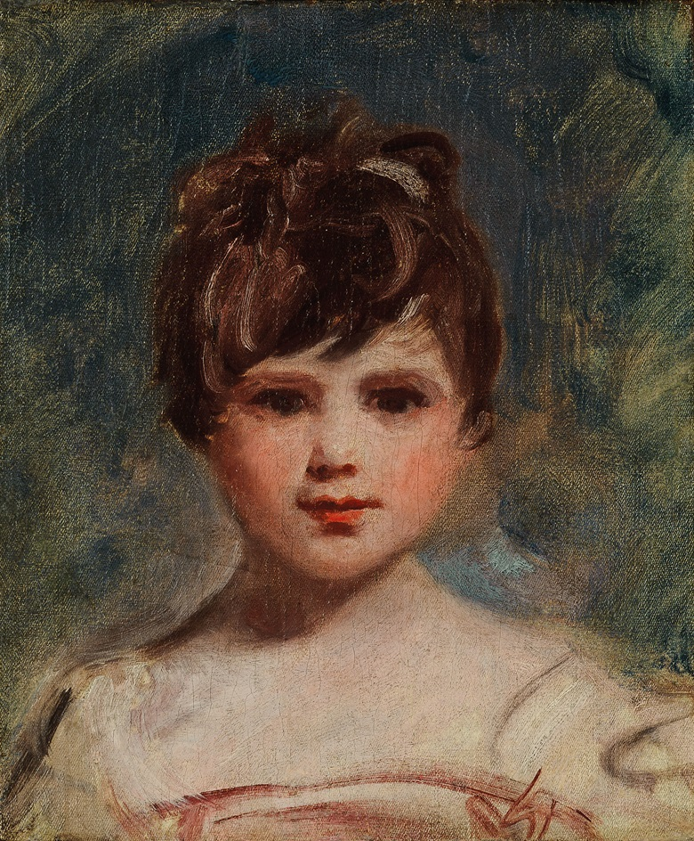 George Romney (near Dalton-in-Furness, Lancs. 1734-1802 Kendal, Cumbria ), Portrait of a young girl, bust-length, in a white dress. Oil on canvas, unframed. 15¼ x 12¾ in (38.5 x 32.5 cm). This work was offered in Old Master and British Paintings on 28 April 2016 at Christie's in London and sold for £16,250