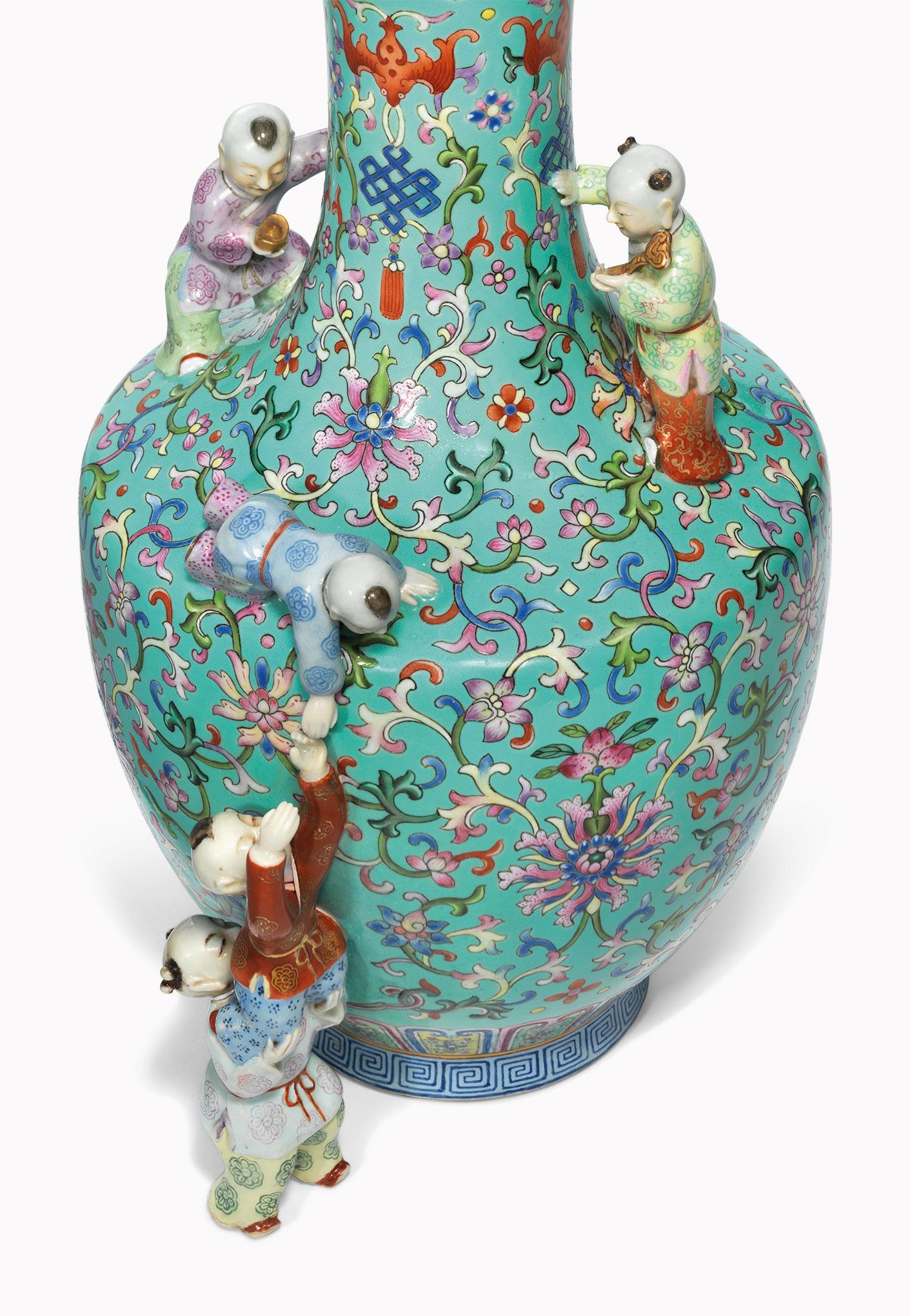 Asian porcelain figurine symbols were