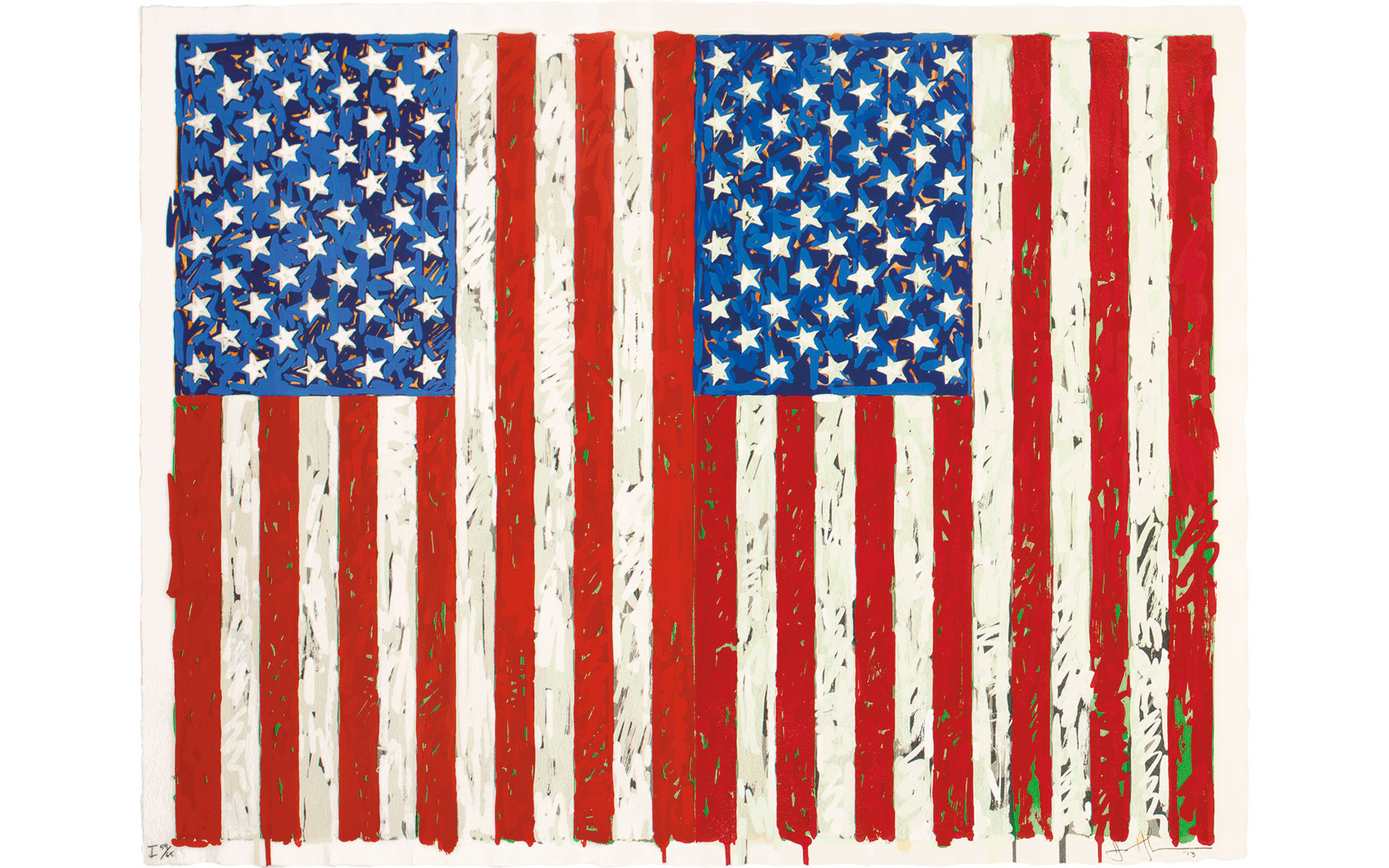 Flags 1 by Jasper Johns: A mas