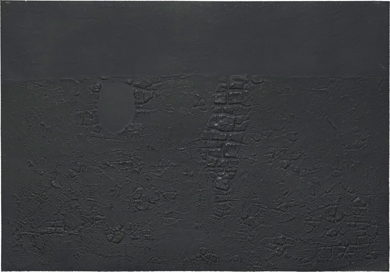 Alberto Burri (1915-1995), Cretto B, 1971. Etching and aquatint with embossing, on Fabriano Rosaspina paper, signed in pencil, numbered VIXV, an artists proof aside from the edition of 90. Image & Sheet 667 x 955 mm. This work was offered in Prints & Multiples on 19 May 2016 at Christie's in London and sold for £9,375