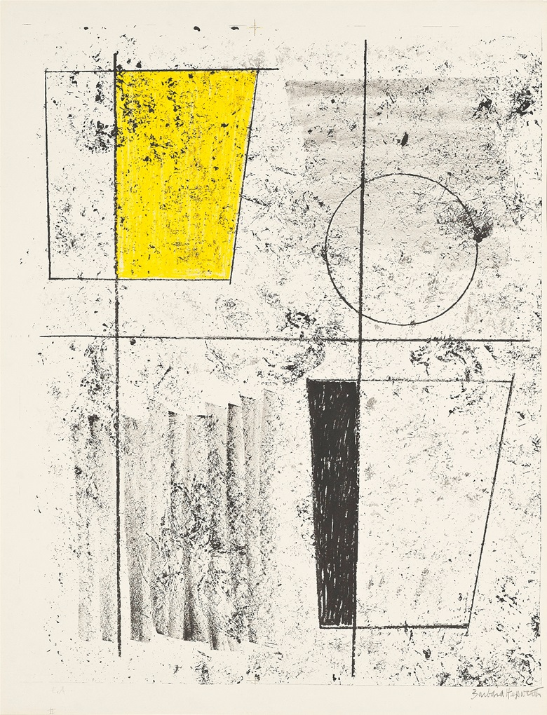 Barbara Hepworth (1903-1975), Three Forms Assembling, 1958. Lithograph in colours, on BFK Rives wove paper, signed in pencil, inscribed E.A., an artists proof aside from the edition of 65. Image 590 x 465 mm, Sheet 650 x 501 mm. This work was offered in Prints & Multiples on 19 May 2016 at Christie's in London and sold for £4,375