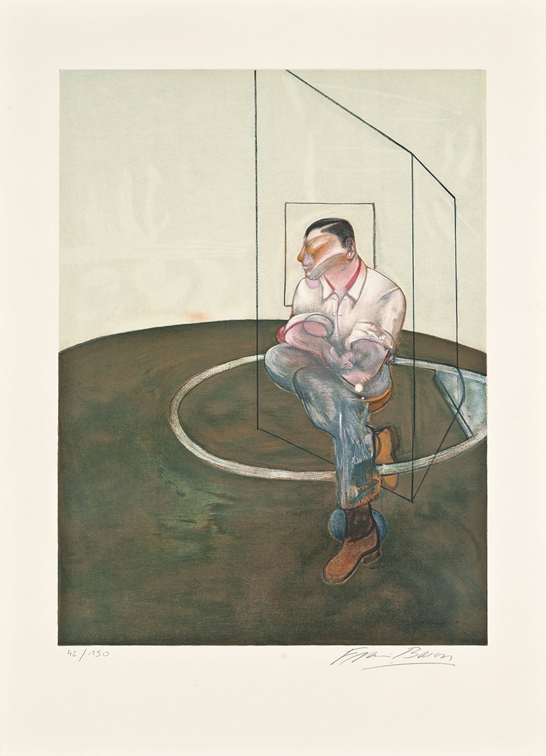 Francis Bacon (1909-1992), Study for a Portrait of John Edwards, 1986. Lithograph in colours, on Arches wove paper, signed in pencil, numbered 42150 (there were also 30 hors commerce impressions). Image 605 x 450 mm., Sheet 805 x 595 mm. This work was offered in Prints & Multiples on 19 May 2016 at Christie's in London and sold for £10,625