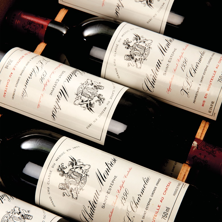 Château Montrose 1990; Saint-Estèphe, 2ème cru classé. 12 bottles. Estimate CHF 4,800-5,800 ($5,002 - $6,044). This lot is offered in Fine And Rare Wines on 17 May at Christie's in Geneva