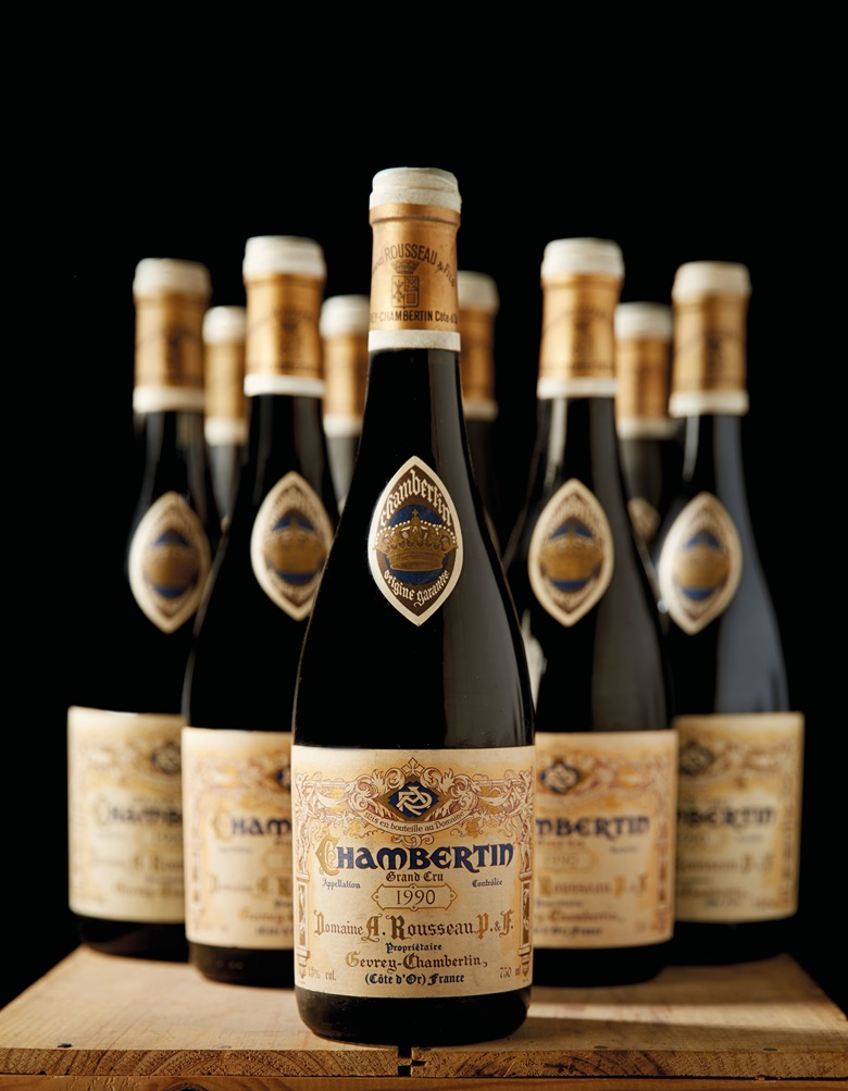 Armand Rousseau Chambertin 1990. Grand Cru, Côte de Nuits. Above 9 bottles per lot. Estimate CHF 14,000-18,000 ($14,590-18,759). This lot is offered in Fine And Rare Wines on 17 May at Christie's in Geneva