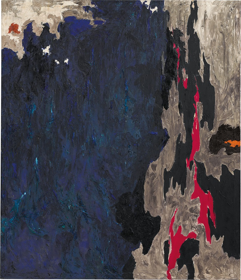 Clyfford Still (1904-1980), PH-234, 1948. Oil on canvas. 69 x 59 58 in. (175.3 x 151.4 cm.) Estimate $25,000,000-35,000,000. This work is offered in the Post-War and Contemporary Art Evening Sale on 10 May at Christie's New York