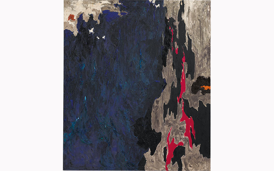 A rare masterpiece by Clyfford Still among top lots in New York Evening Sale