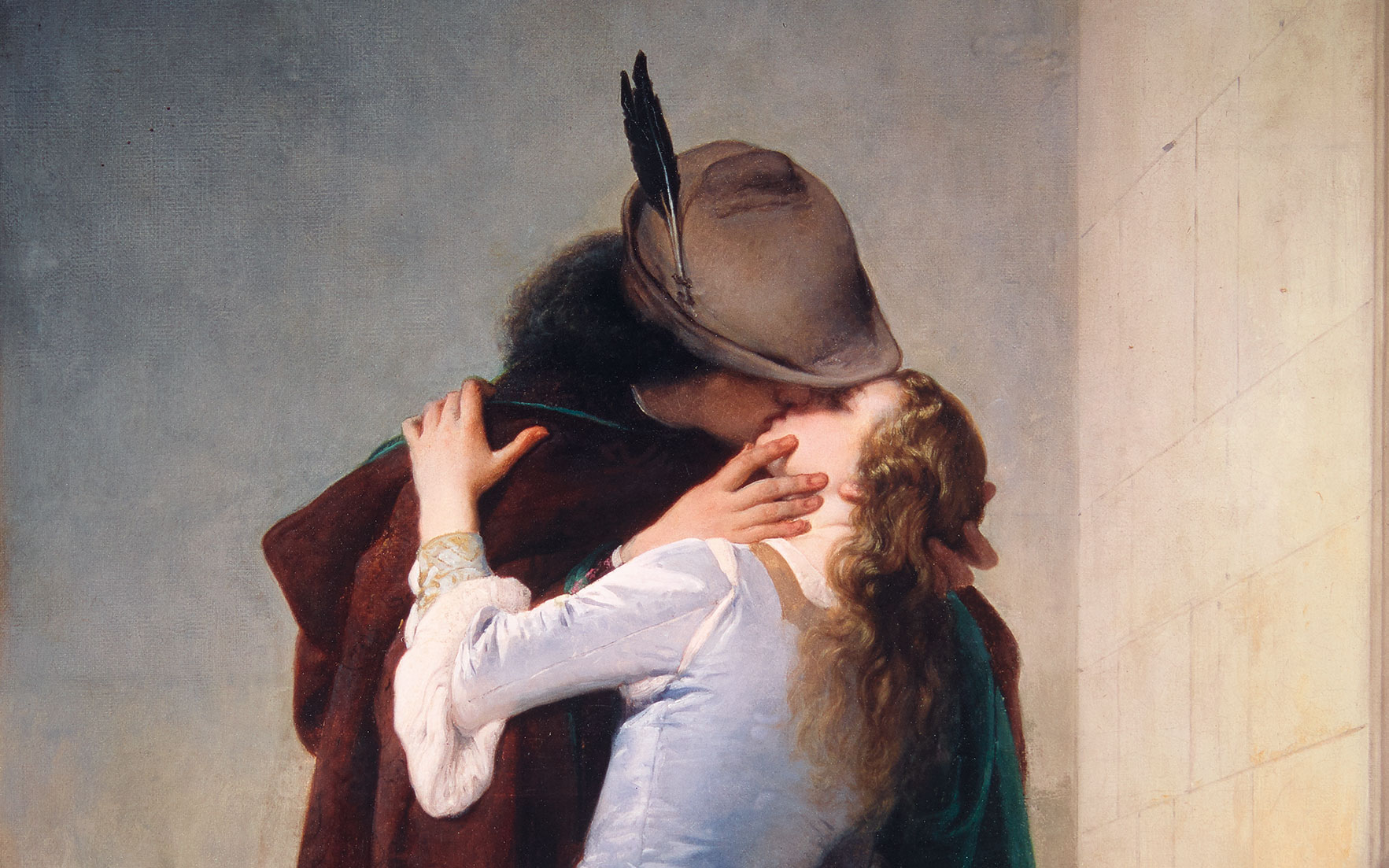 A kiss to celebrate the birth of a nation