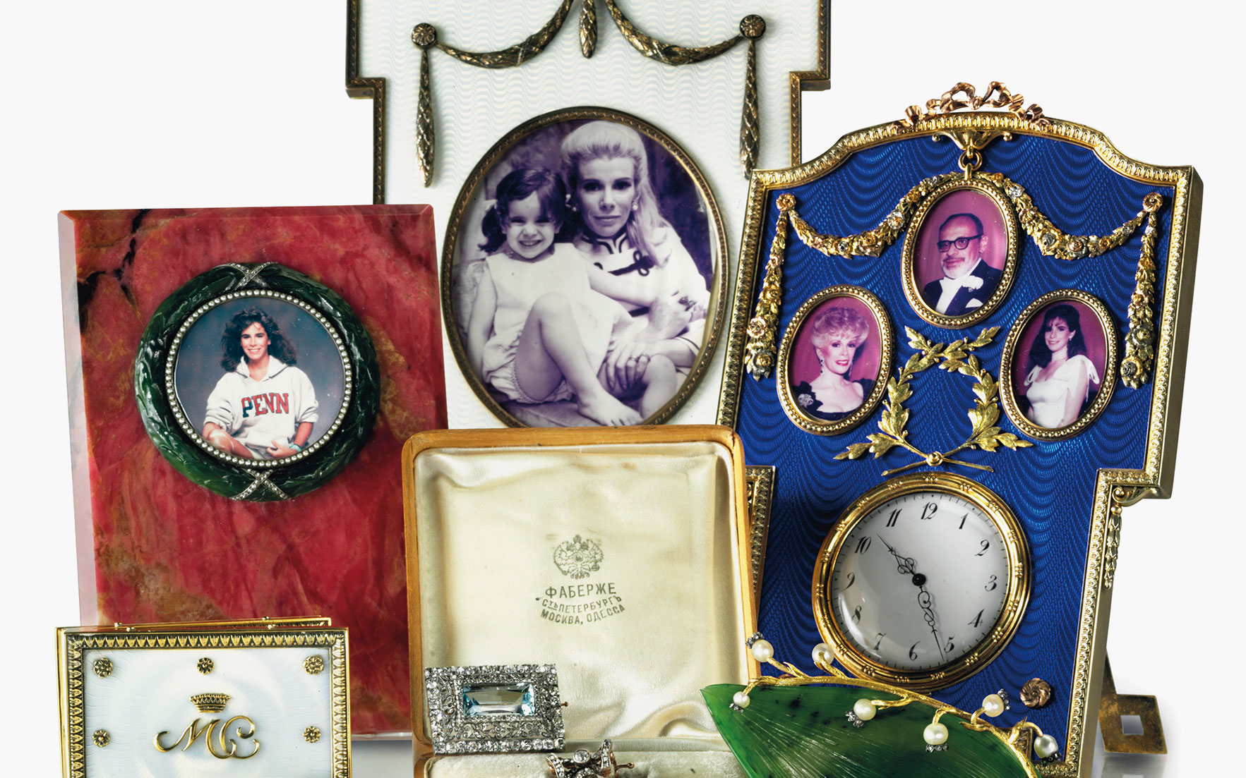 A selection of Fabergé frames from the Collection of Joan Rivers