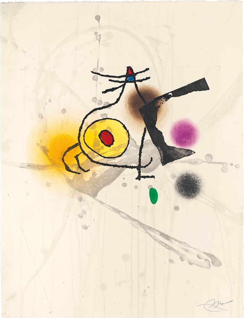 Joan Miró (1893-1983), Lliure. Image & Sheet 660 x 500 mm. Estimate £1,000-1,500. This work is offered in Prints & Multiples on 19 May at Christie's in London