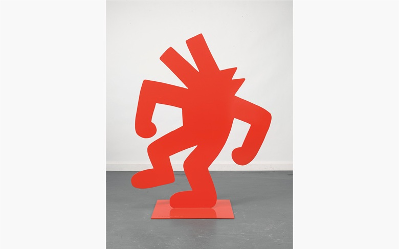 Keith Haring (1958–1990), Untitled (Red Dog), 1985. This work is number two from an edition of three plus one artist's proof. Polyurethane painted A-36 steel. 50 x 40 x 22 in. (127 x 101.6 x 55.8 cm.) Estimate $400,000–600,000. This work is offered in the Post-War and Contemporary Art Afternoon Session at Christie's New York on 11 May