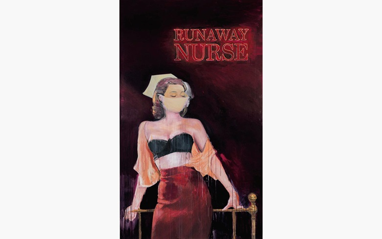 Richard Prince (b. 1949), Runaway Nurse, 2007. Inkjet and acrylic on canvas. 110 14 x 66 in. (280 x 167.6 cm.) Estimate $7,000,000–10,000,000. This work is offered in the Post-War and Contemporary Art Evening Sale at Christie's New York on 10 May