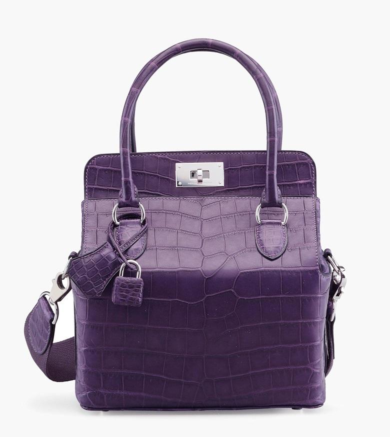 036a8359ec6c A matte amethyst Nilo crocodile Toolbox 20 bag with palladium hardware.  Hermès