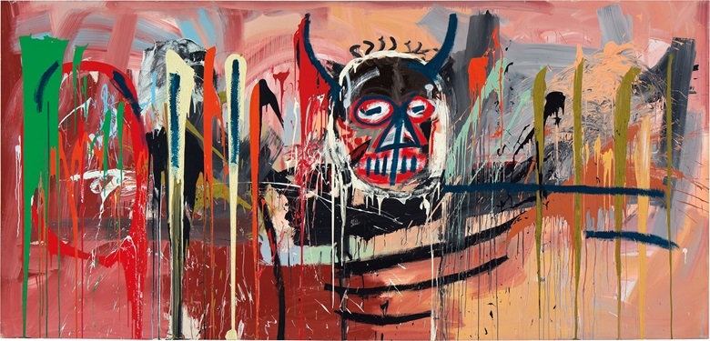 Jean-Michel Basquiat (1960-1988), Untitled, 1982. Signed and dated 'Jean-Michel Basquiat Modena 82' (on the reverse). Acrylic on canvas. 94 x 197 in. (238.7 x 500.4 cm.). Estimate on request. This work is offered in Post-war and Contemporary Art Evening Sale on 10 May at Christie's New York
