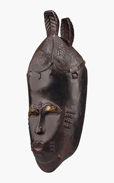 The Mendès-France Baule mask, Ivory Coast. Base by Kichizô Inagaki (1876-1951). Height 12 14 in. (31 cm.). Estimate $500,000-800,000. This work is offered in Evolution of Form African & Oceanic Art at the Genesis of Modernism on 12 May at Christie's New York
