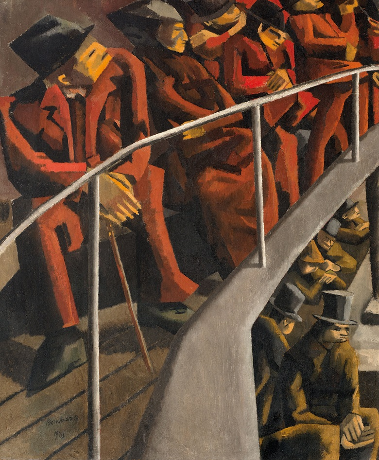 David Bomberg, Ghetto Theatre, 1920 © The Estate of David Bomberg, all Rights Reserved, DACS 2016. Photo Ben Uri Collection