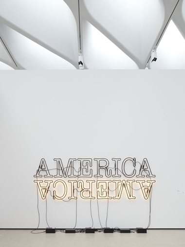 Glenn Ligon, Double America 2, 2014 © Glenn Ligon