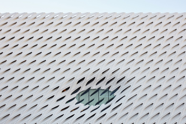 Exterior detail from The Broad Museum, Los Angeles