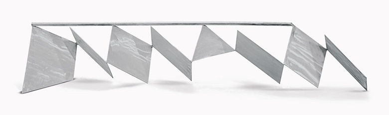 Anthony Caro (1924-2013), Tony's Gift, 1966. Stainless steel. 16 78 × 89 × 20 14 in. (42.9 × 226.1 × 51.4 cm.). Estimate $200,000-300,000. This work is offered in the Post-War and Contemporary Art Morning Session on 11 May at Christie's New York