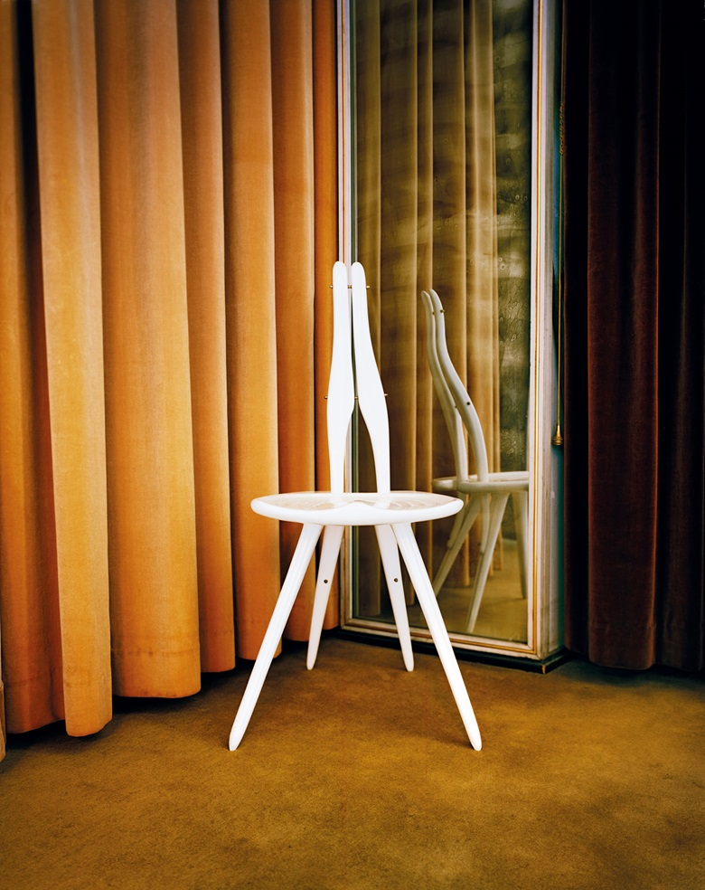 The chair Mollino designed in 1959 for his office at Turin University