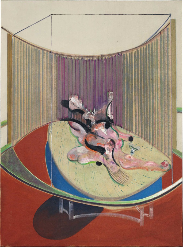 Francis Bacon (1909–1992), Version no. 2 of lying figure with hypodermic syringe, 1968. Oil on Canvas. 78 X 58 in. (197 x 147 cm.) Estimate on request. This work is offered in Defining British Art on 30 June at Christie's in King Street
