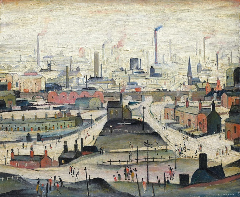 Laurence Stephen Lowry, RA (1887-1976), Industrial scene. Oil on canvas. 20 X 24 in. (58.6 x 61 cm.) Estimate £1,500,000-2,500,000. This work is offered in Defining British Art on 30 June at Christie's in King Street