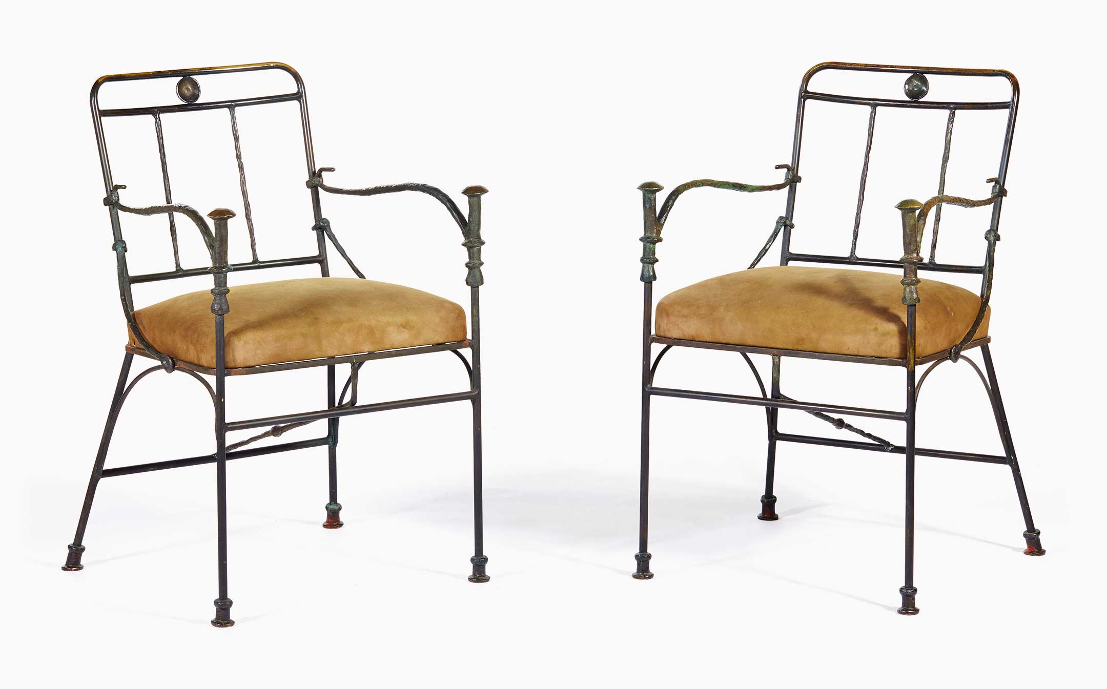 Diego Giacometti (1902u20131985), A Pair Of Pommeaux De Canne Armchairs,