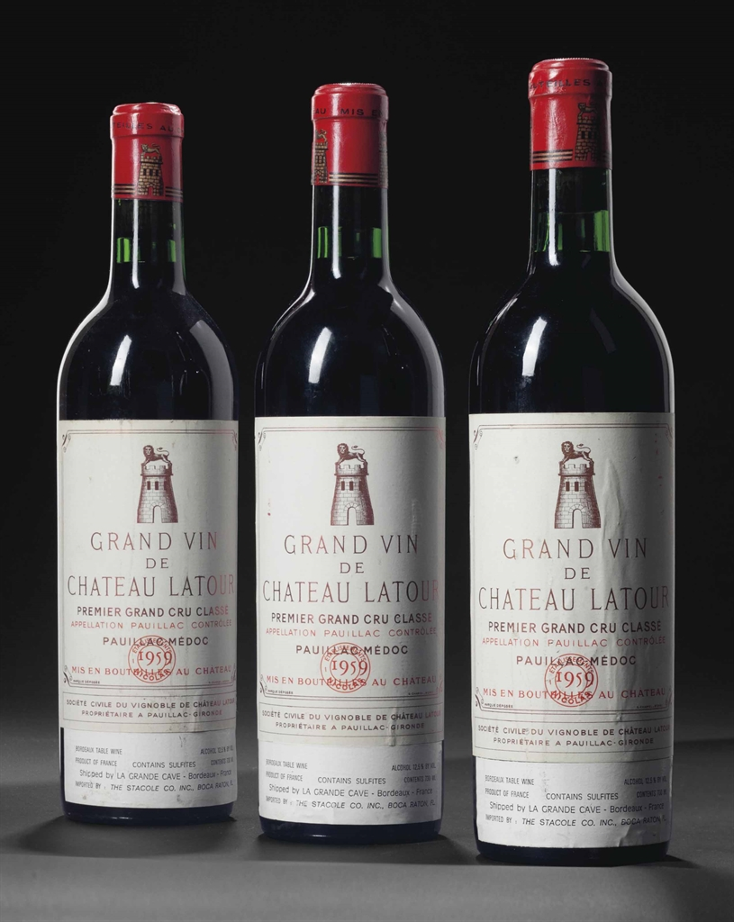 Château Latour 1959. 8 bottles per lot. This lot was offered in Fine Wines & How to start a wine cellar | Christieu0027s