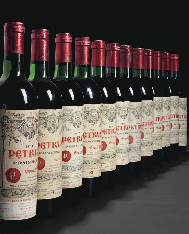 Exceptional vertical of Pétrus. 27 bottles per lot. This lot was offered in Fine Wines and Spirits Featuring Rarities Direct from the Cellars of Champagne Henriot on 10 June 2016 at Christie's in New York and sold for $46,550