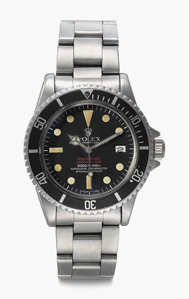 Rolex. A stainless steel automatic wristwatch date, center seconds, and bracelet. Signed Rolex, Oyster Perpetual Date, Sea-Dweller, Submariner 2000, 2000ft=610m, Superlative Chronometer, Officially Certified, Double Red Model, Ref. 1665, Case no. 4205285, circa 1976. 39mm diam. Estimate $25,000-35,000. This lot is offered in Rare Watches & Exceptional Complications on 7 June 2016 at Christie's in