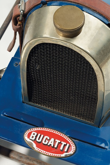 Ettore Bugatti (1881-1947). A Baby 52 electric car, circa 1930. 23 ¼ in. (59 cm.) high, 24 in. (61 cm.) wide, 77 ¼ in. (196 cm.) deep. Estimate $30,000-50,000. This lot is offered in Design on 8 June 2016 at Christie's in New York, Rockefeller Plaza