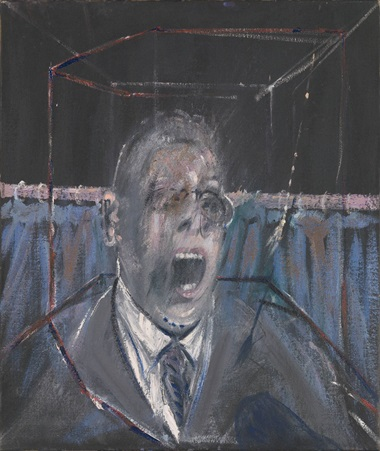 Francis Bacon (1909-1992), Study for a Portrait, 1952. Oil paint and sand on canvas. 661 x 561 x 18 mm. © Estate of Francis Bacon. All Rights Reserved, DACS 2016