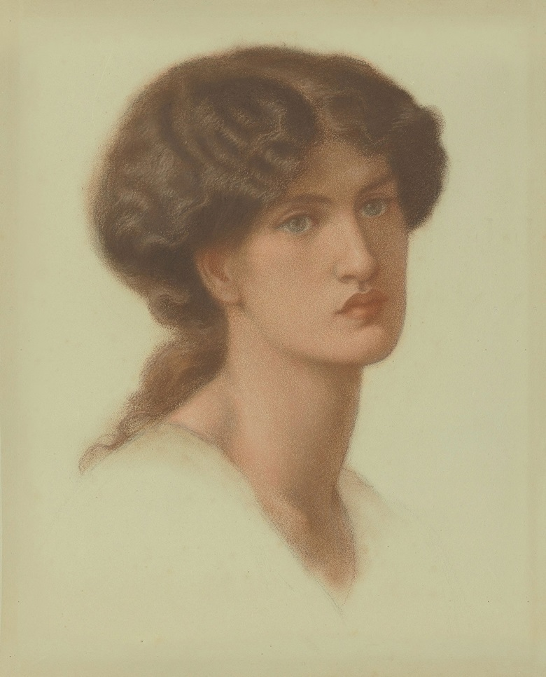 Dante Gabriel Rossetti (1828-1882), Portrait of Jane Morris, bust-length, circa 1870. Coloured chalks on light green paper. 19 3⁄4 x 15 7⁄8 in. (50.1 x 40.3 cm.) Estimate £300,000-500,000. This work is offered in the Defining British Art Evening Sale on 30 June at Christie's London