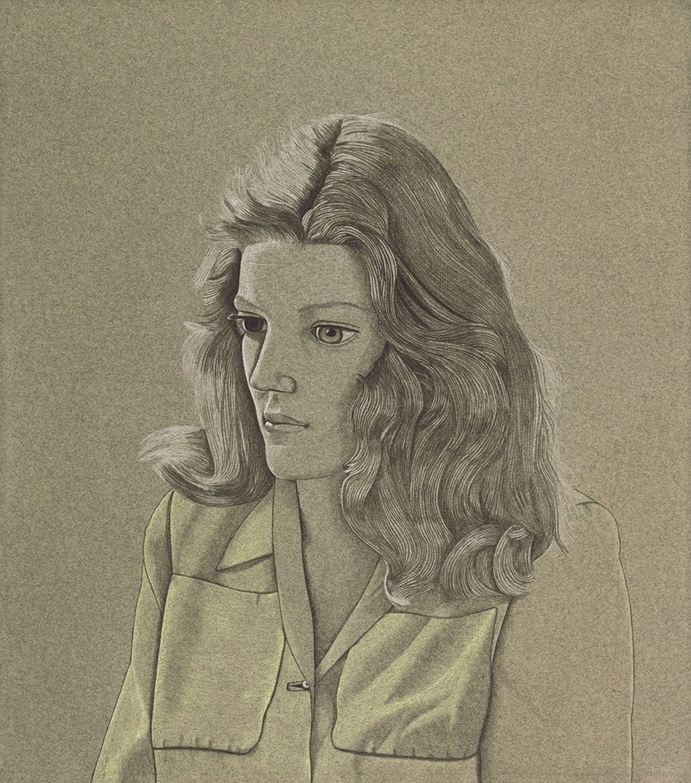 Lucian Freud, O.M., C.H. (1922-2011), A Girl (Pauline Tennant), circa 1945. Conté crayon and coloured chalk on greygreen paper. 17 3⁄4 x 15 3⁄4 in. (45 x 40 cm.) Estimate £2,000,000-3,000,000. This work is offered in the Defining British Art Evening Sale on 30 June at Christie's London