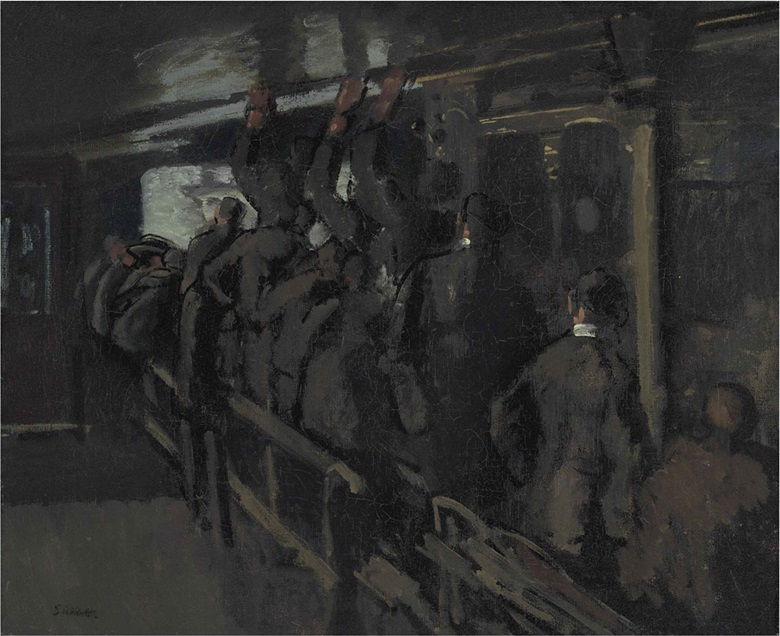Walter Richard Sickert, A.R.A. (1860-1942), The Gallery at the Old Mogul, 1906. Oil on canvas, 25 x 30 in. (63.5 x 67 cm). Estimate £80,000-120,000. This lot is offered in Modern British & Irish Art Evening Sale on 20 June 2016 at Christie's in London, King Street