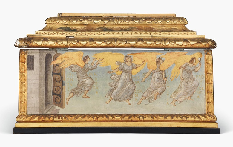 Back panel (left to right) Juventus (youth), Misericordia (merciful), Iustitia (justice), Providentia (providence)