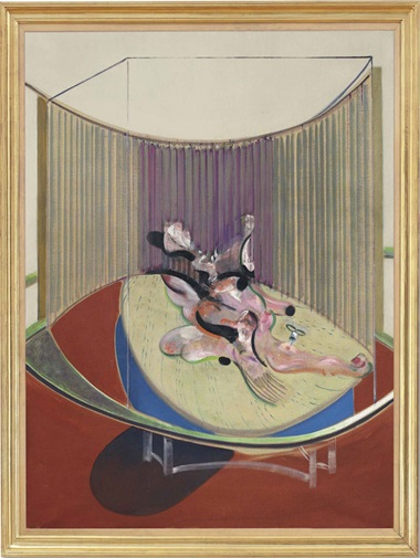 Francis Bacon (1909-1992), Version No. 2 of Lying Figure with Hypodermic Syringe. Oil on canvas, 78 x 58 in (198 x 147.5cm). Estimate on request. This lot is offered in Defining British Art Evening Sale on 30 June 2016 at Christie's in London, King Street