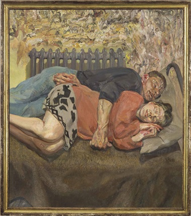 Lucian Freud (1922-2011), Ib and Her Husband. Oil on canvas, 66¼ x 57¾ in (168.3 x 146.7cm). Estimate on request. This lot is offered in Defining British Art Evening Sale on 30 June 2016 at Christie's in London, King Street