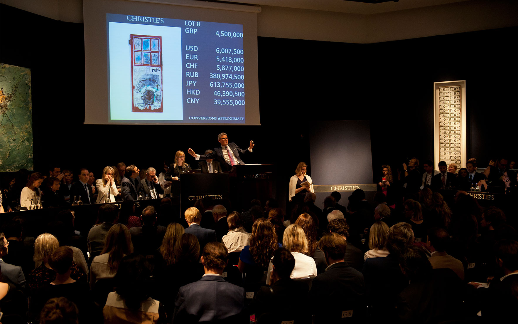 Exceptional sell through rates for Post-War and Contemporary Art Evening Auction in London