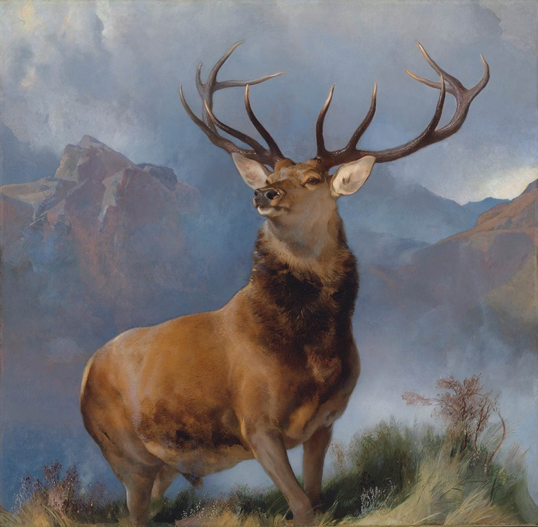 Sir Edwin Landseer, R.A (1802-1873), The Monarch of the Glen, 1851. Oil on canvas, 65 ½ x 67 ¼ in. (166.5 x 172 cm.). Private Collection, London.