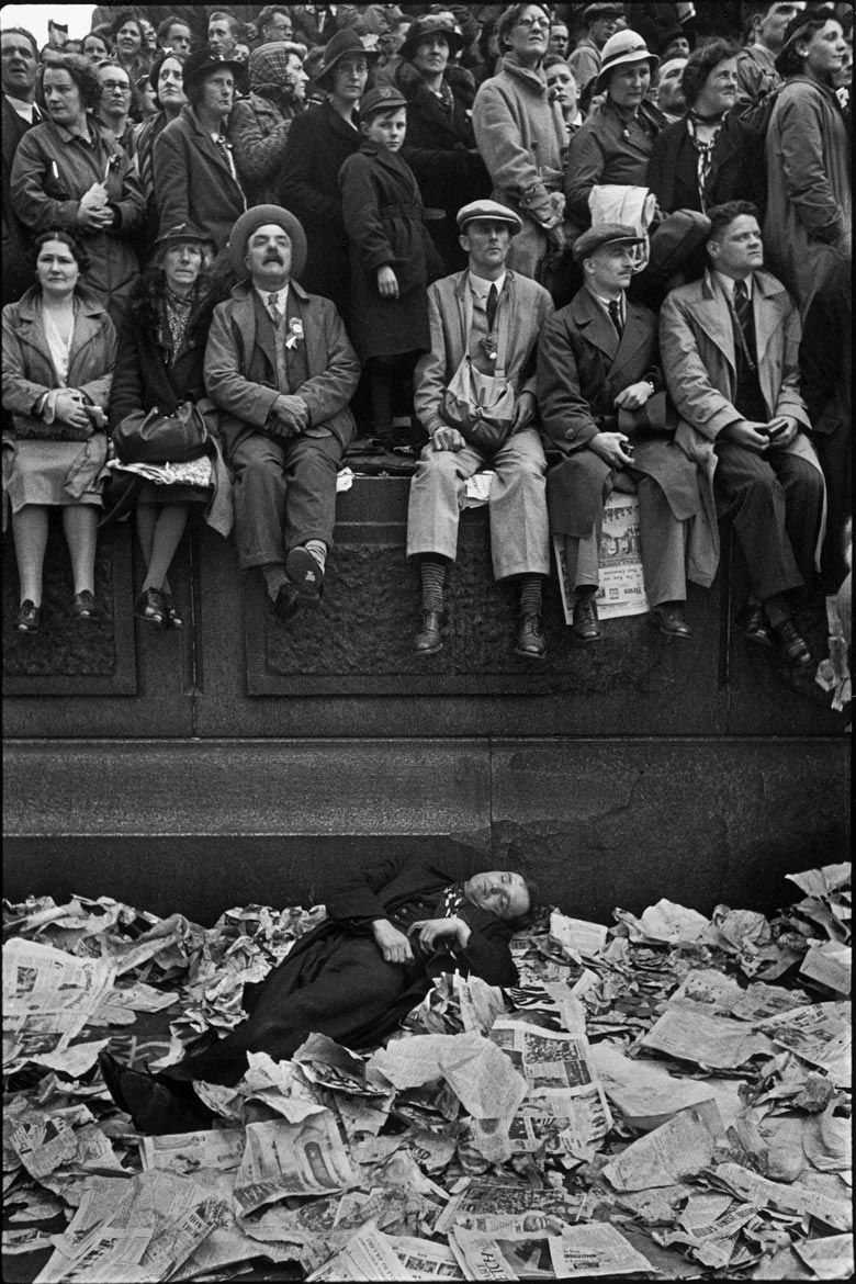 Cartier-Bresson's shot of the crowds at George VI's coronation in London, 1937 © Henri Cartier-BressonMagnum Photos