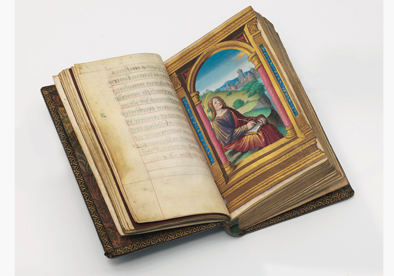 The von Erlach 'Shroud' Prayerbook, in Latin and German. Manuscript on vellum with illuminations by the Master of Claude de France [Tours and Switzerland, c.1520s and c.1540s]. This work was offered in the Valuable Books and Manuscripts sale at Christie's London on 13 July 2016 and sold for £116,500
