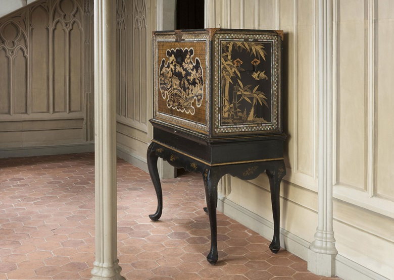 A lacquer cabinet on an English stand commissioned for the Portuguese market. Momoyama period (late 16th century), English stand, late-18th to early-19th century. This lot was offered in Japanese Art and Its Influence at the European Court, 22 June-6 July, online, and sold for £22,500
